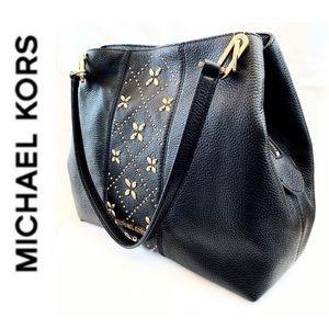 NWT authentic MK genuine leather Leighton tote